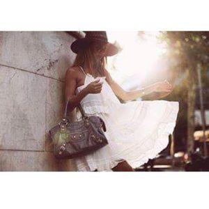 NWT - Chicwish Tiers For Fun white boho slip dress